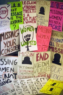 end media violence against women signs